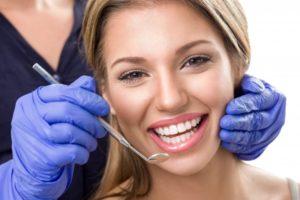 woman dental visit smiling
